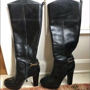 TORY BURCH- Jess Platform Tall Boots, Black, 8.5